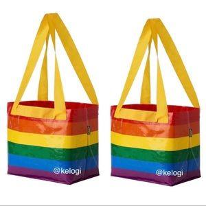 🌈NEW SET🌈2 IKEA LE Rainbow Pride Mini Tote Bags